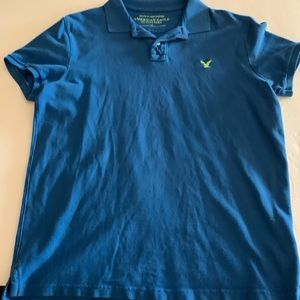 AMERICAN EAGLE OUTFITTERS MEN'S POLO SHIRT BLUE L